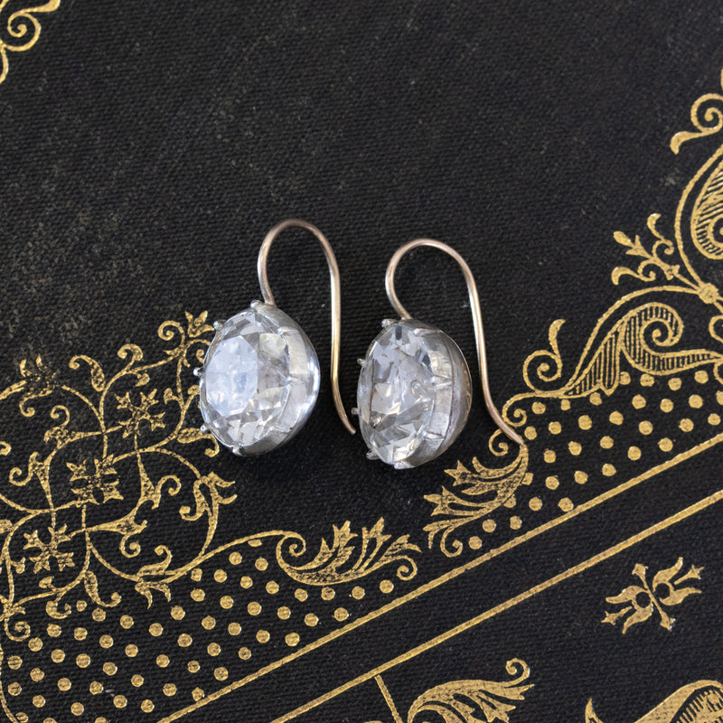Antique Paste Round Drop Earrings
