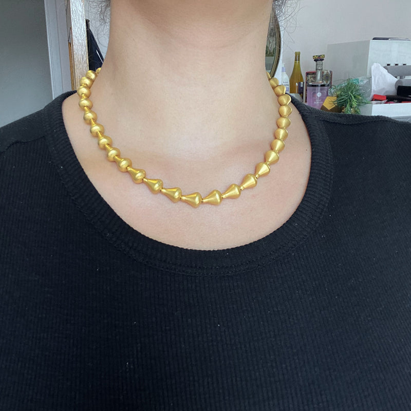 Gold Earrings & Necklace Set