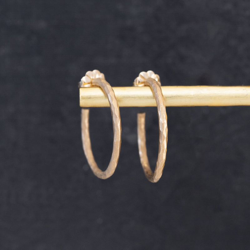 Vintage Paloma Picasso Hammered Gold Hoop Earrings, by Tiffany & Co.