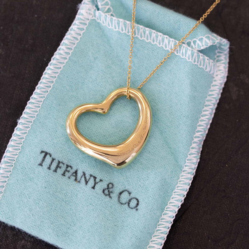 Open Heart Pendant, by Elsa Peretti for Tiffany & Co, 18kt Yellow Gold