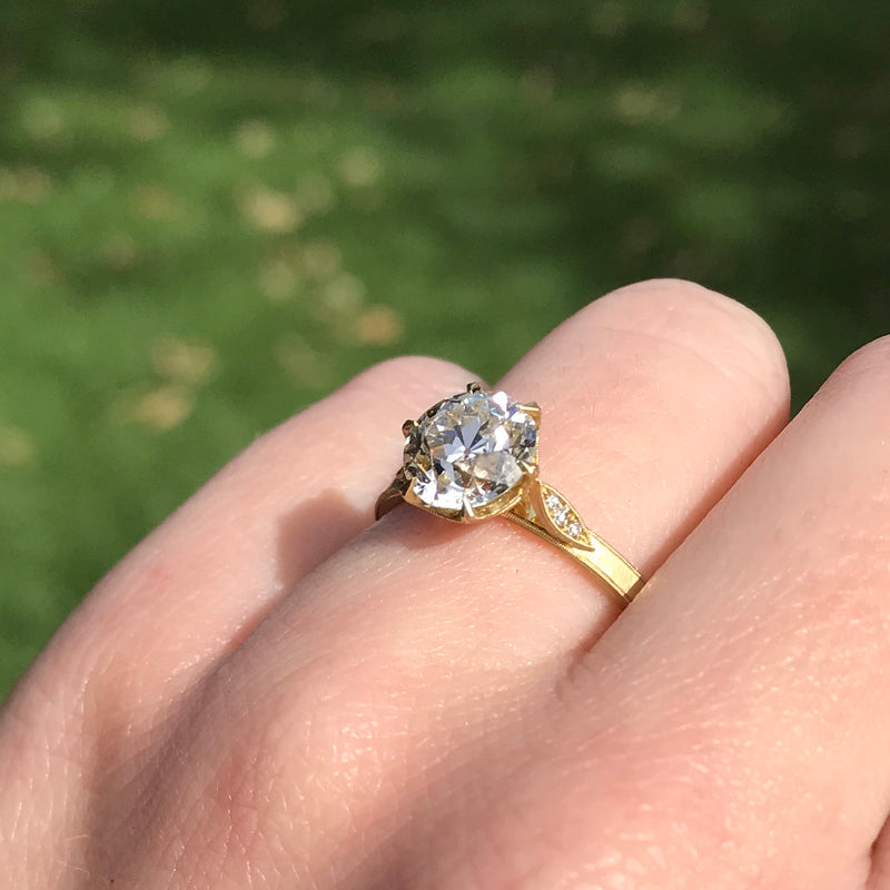 "1.88ct Old European Cut Diamond ""Grace"" Solitaire by Erika Winters"