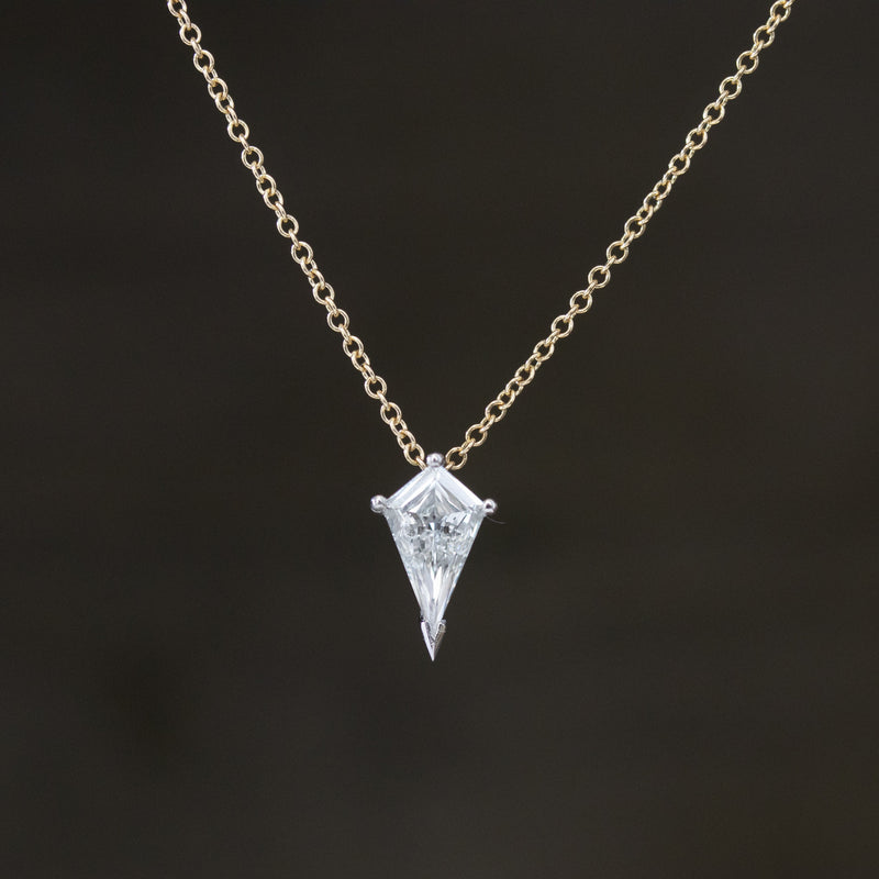 .34ct Kite Shaped Diamond Pendant