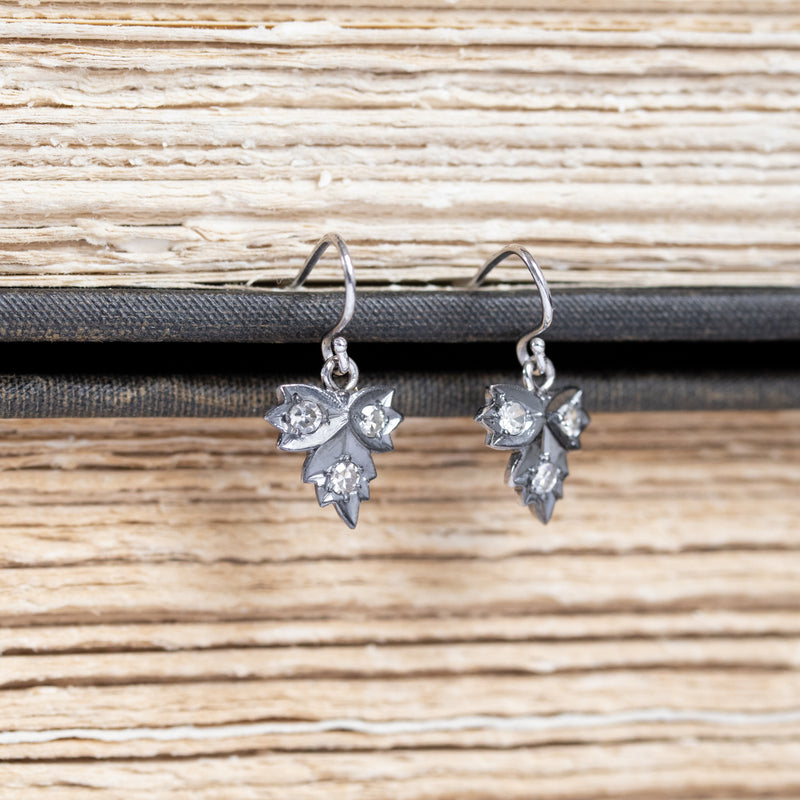.36ctw Leaf Component Diamond Earrings