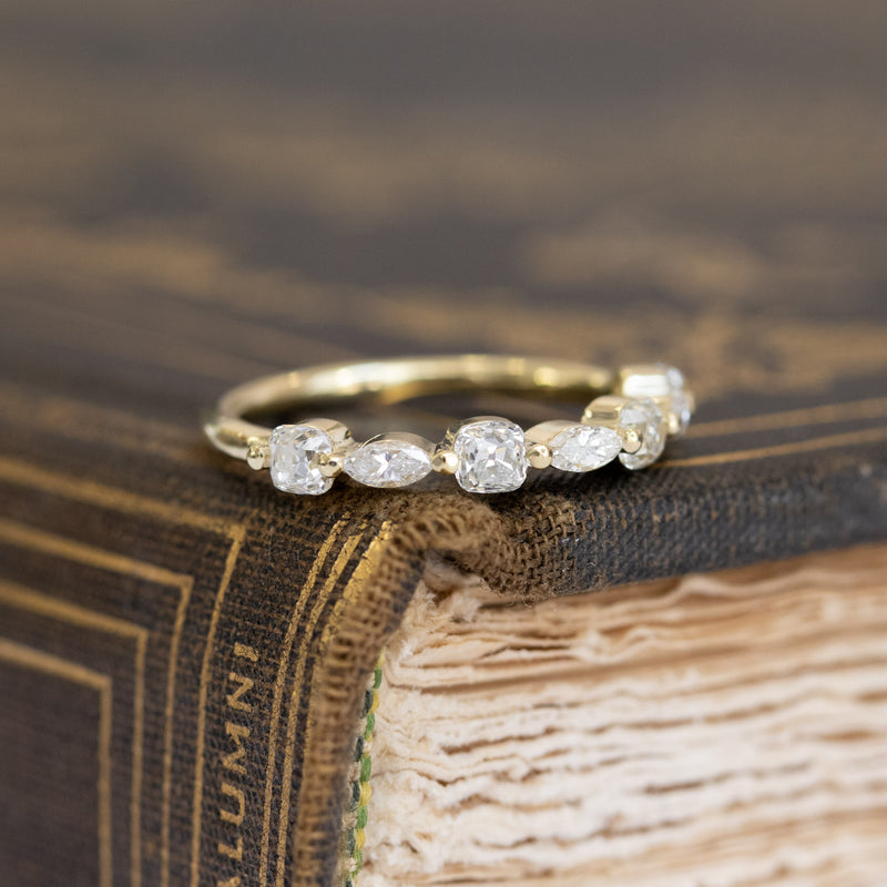 .54ctw Vintage Marquise & Old Mine Cut Diamond Band