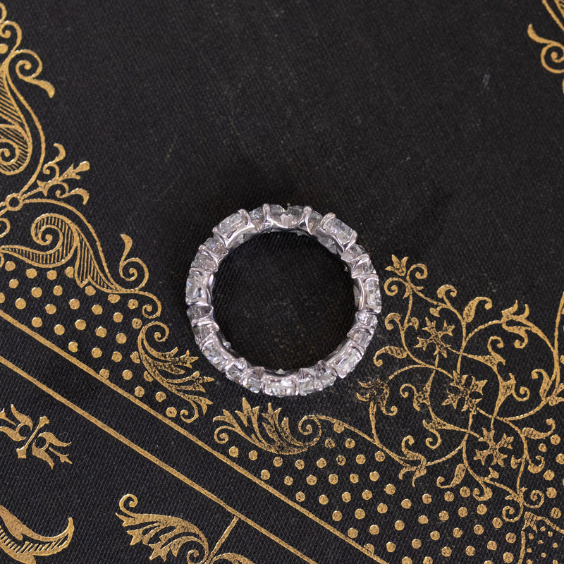 7.94ctw Pear Cut Diamond Eternity Band