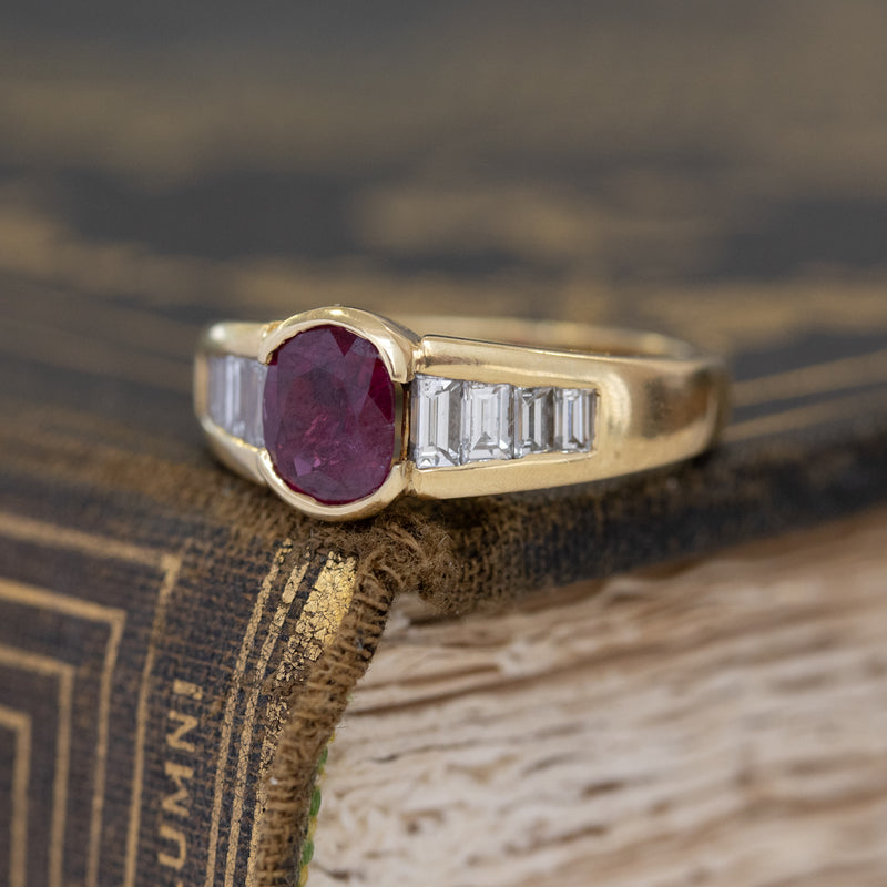 1.79ctw Ruby & Diamond Band, French