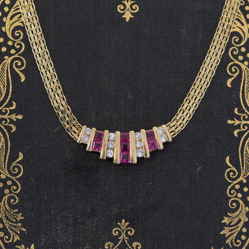 1.25ctw Ruby & Diamond Necklace