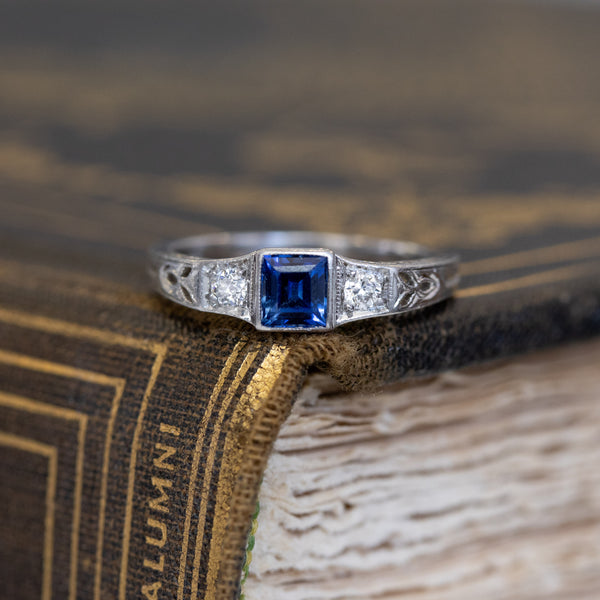.57ctw Antique Sapphire & Diamond Band, by Marcus & Co