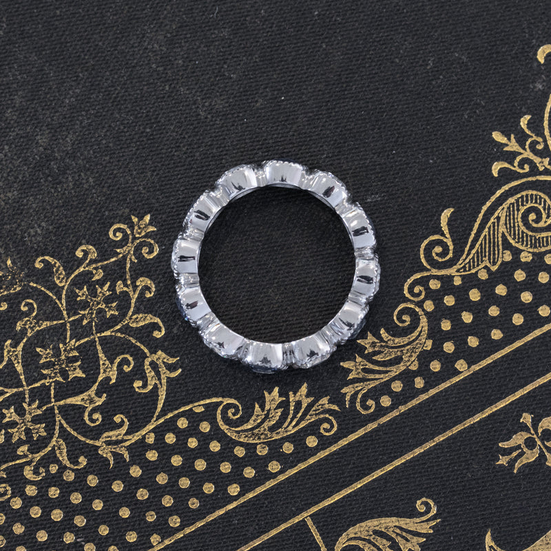 "3.61ctw ""Gabby"" Sapphire & Diamond Eternity Band, by Single Stone"