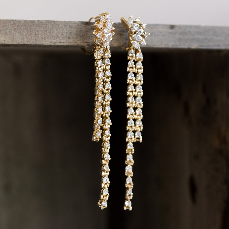 .52ctw Diamond Tassel Drop Earrings