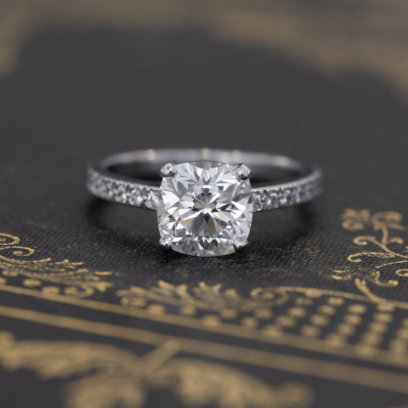 1.80ct Tiffany & Co. Novo Cushion Cut Diamond Solitaire, GIA F VS