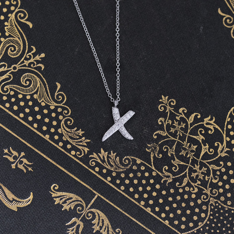 Tiffany & Co. Graffiti X Diamond Pendant, by Paloma Picasso
