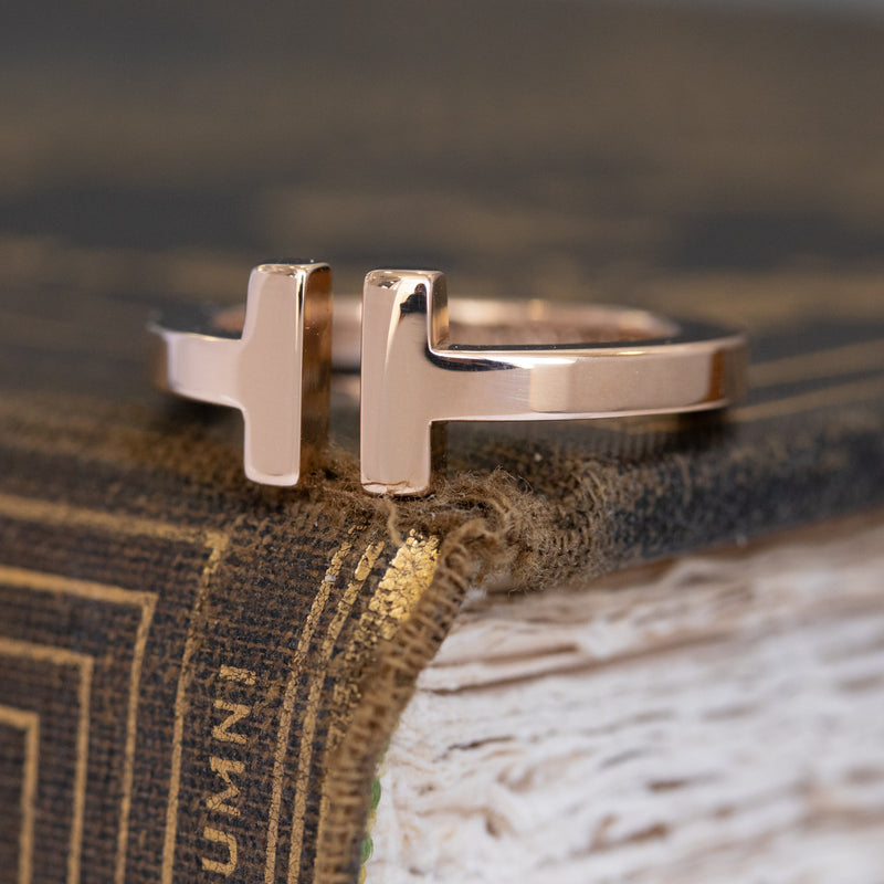 Tiffany & Co. Rose Gold T Band