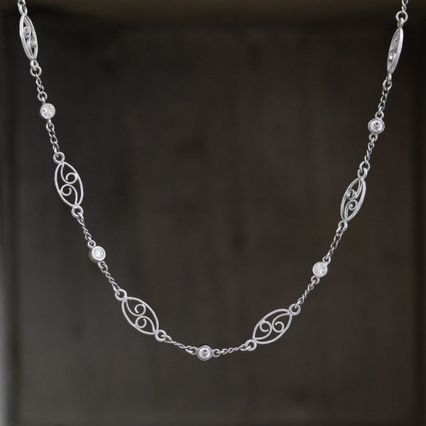 1.05ctw Vintage Diamond & Fancy Length Necklace