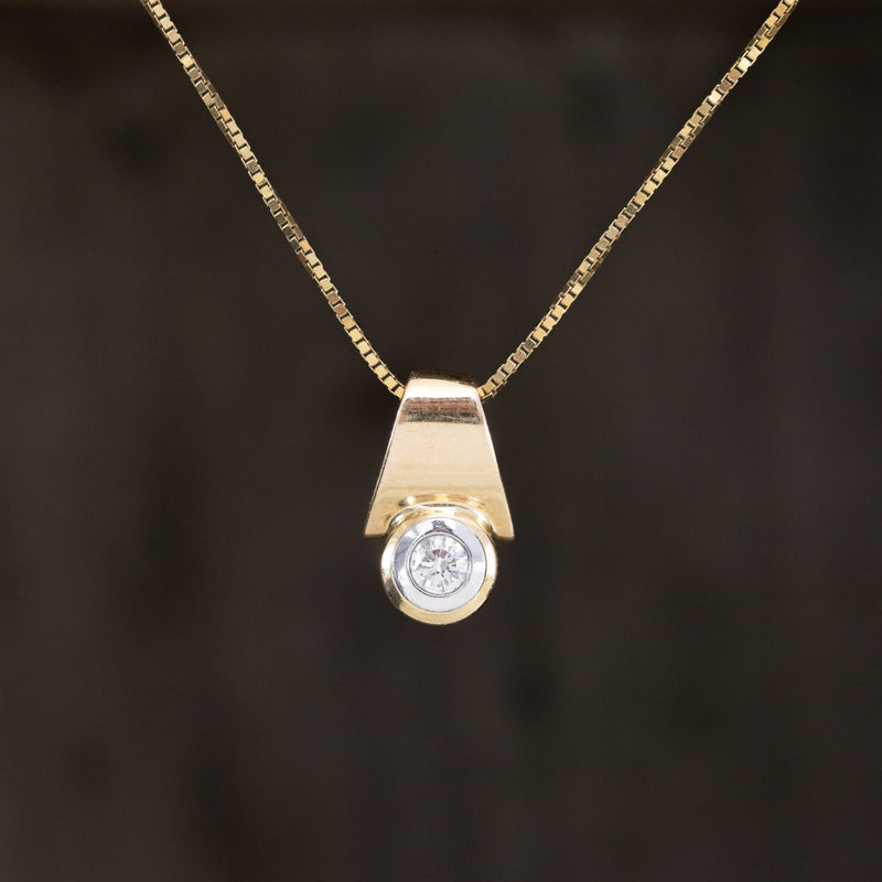 .24ct Round Cut Diamond Pendant