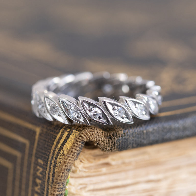 Vintage Single Cut Diamond Eternity Band