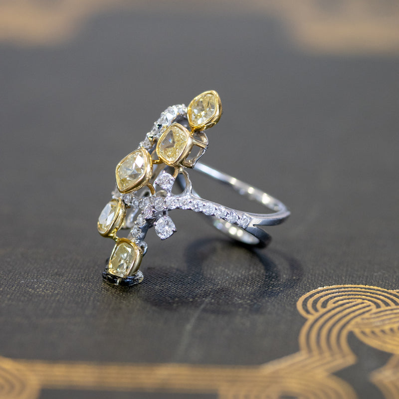 4.27ctw Fancy Cushion Cut Diamond Dinner Ring