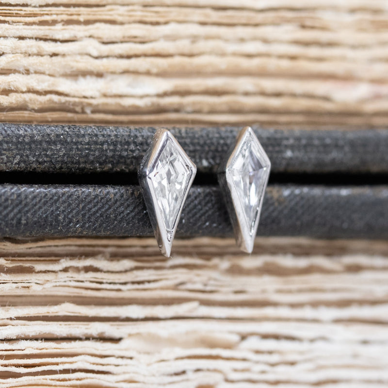 .22ctw Kite Shaped Diamond Studs