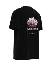 Load image into Gallery viewer, SACRED LOTUS WU EMBROIDERED TEE