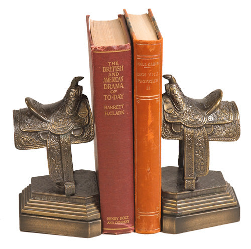 Western Saddle Book Ends