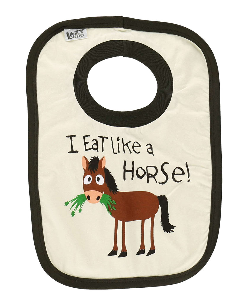 Eat Like A Horse Bib