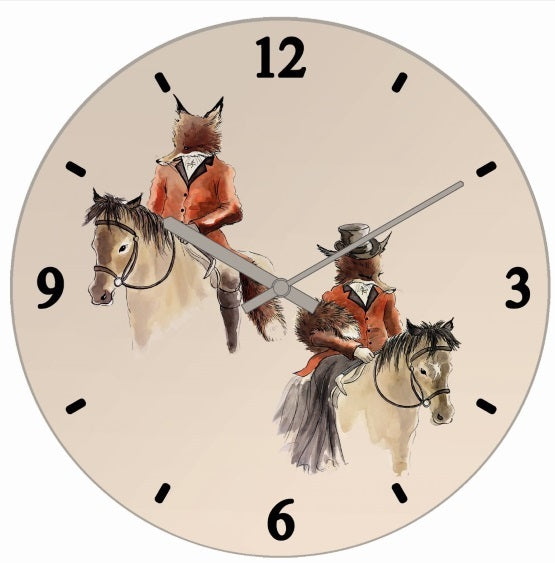 Mr & Mrs Fox Clock