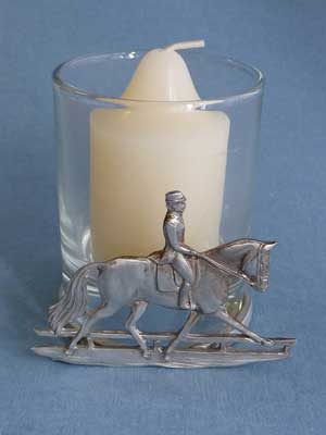 Dressage Horse 2 Piece Votive Holder