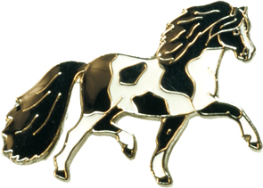 Spotted Pony  Lapel Pin - Black