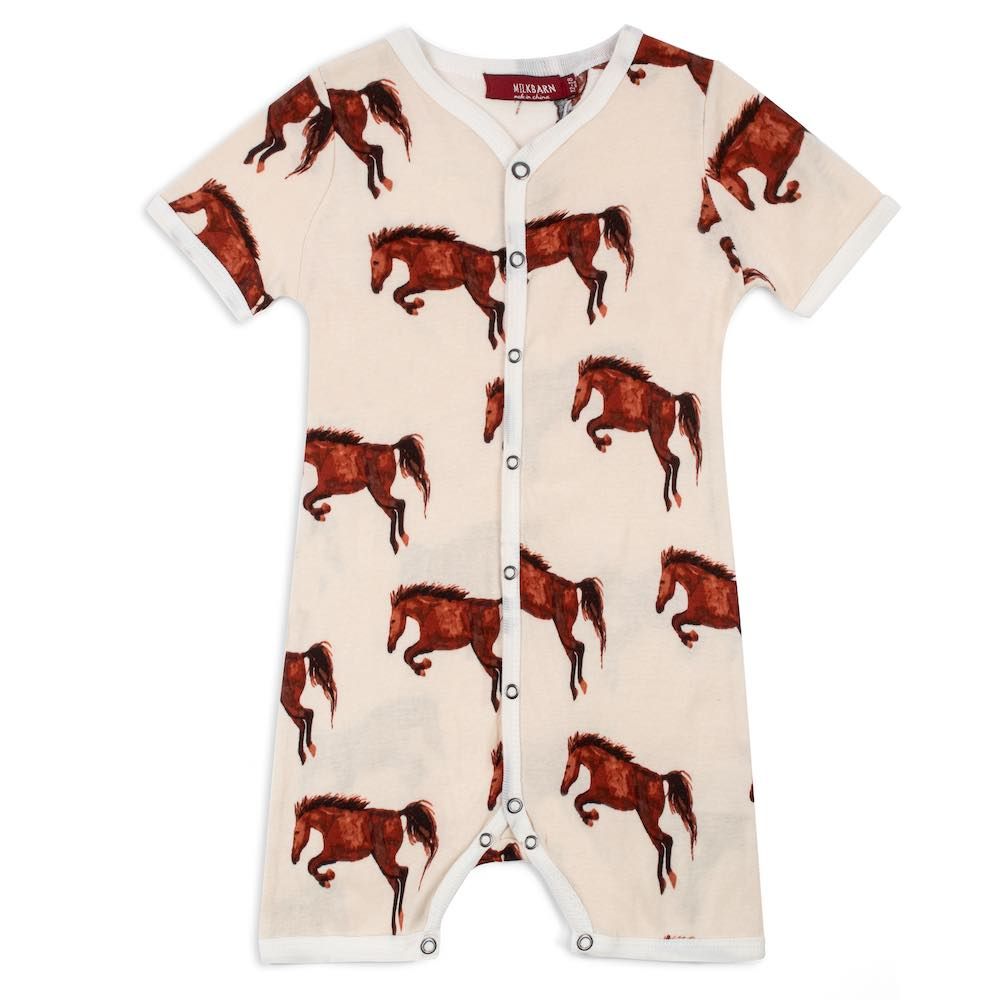 Natural Horse Organic Cotton Shortall