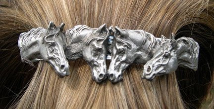 4 Horse Hair Barrette