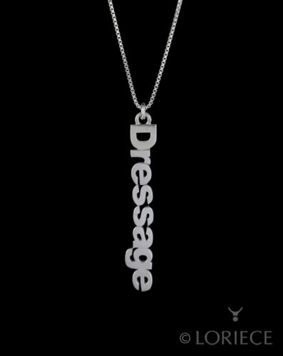 Dressage Text Necklace
