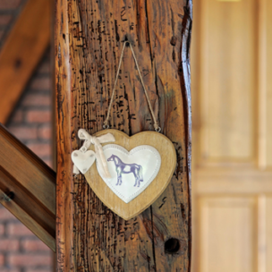Heart Horse Decoration