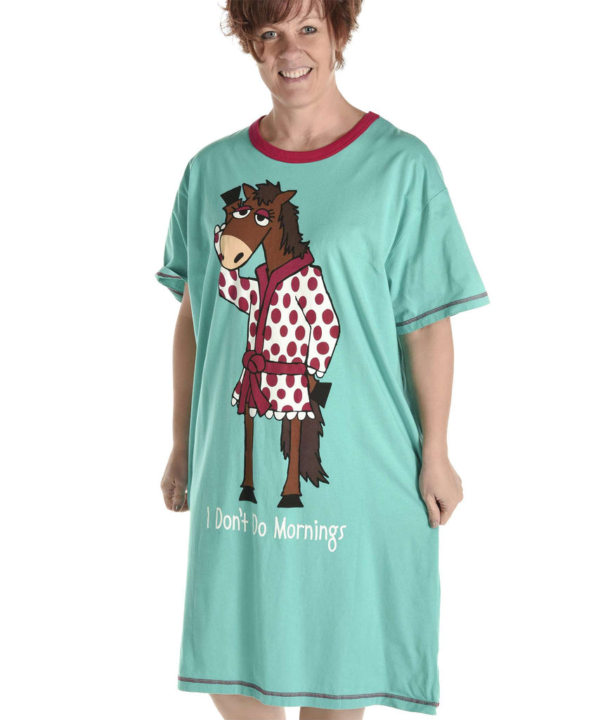 Don't Do Mornings Horse Women's Nightshirt
