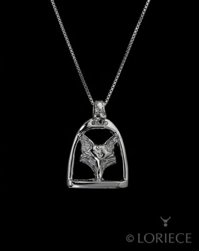 Fox Mask Stirrup Necklace