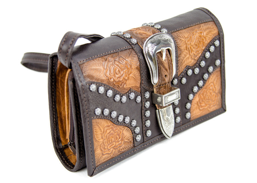 Brown Western Clutch