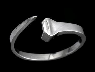 Adjustable Horse shoe Nail Ring