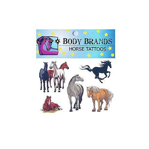 Body Brand Horse Tattoos,