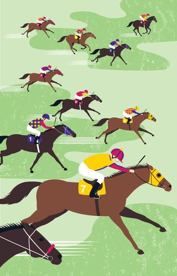 At The Races Tea Towel