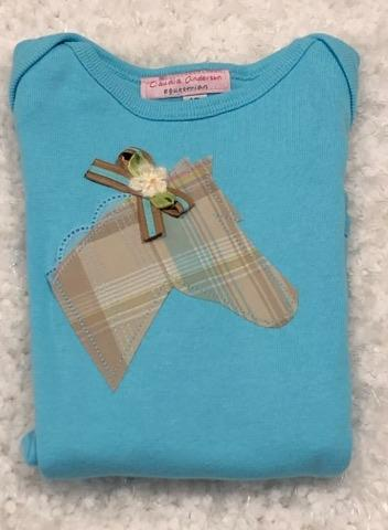 Classic Plaid on Blue Infant Body Suit