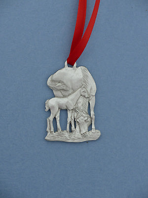 Christmas Ornament - Mare & Foal Grazing