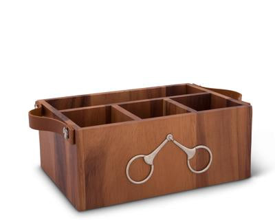 Storage Caddy, with Bits and Leather Handles