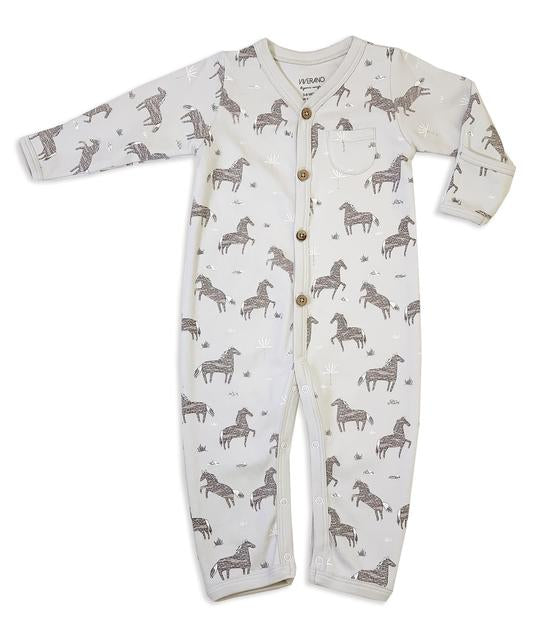 Wild & Free Horse Coverall Romper Misty
