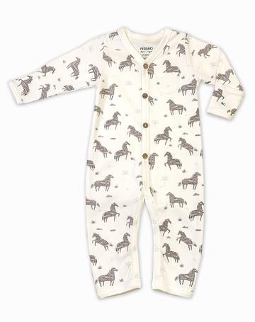 Wild & Free Horse Coverall Romper - Natural