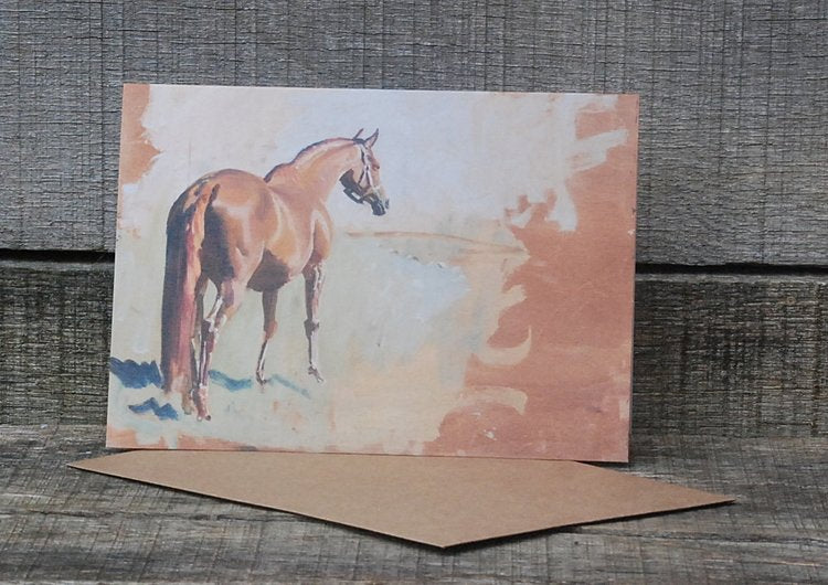 Note Card  - Study Of A Racehorse