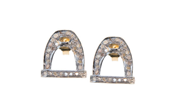 Diamond Stirrup Studs