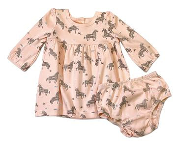 Wild & Free Horse Tulip Dress Coral