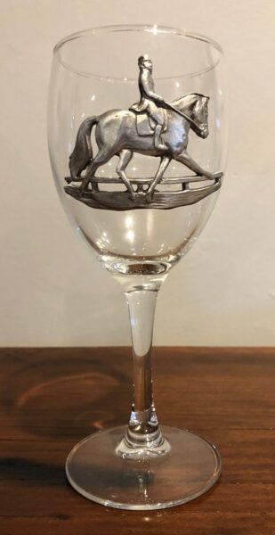 Dressage Wine Glass