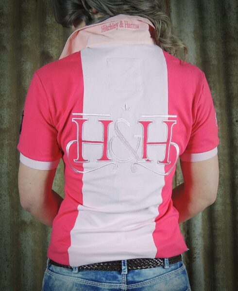 Hot Pink & Pale Pink Rugby Fitted Polo