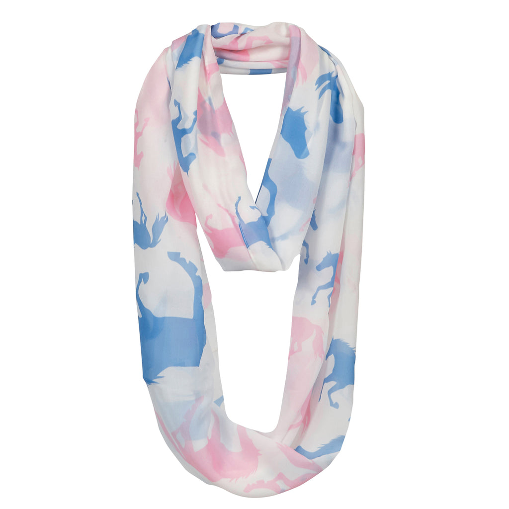 Blue & Pink Infinity Scarf