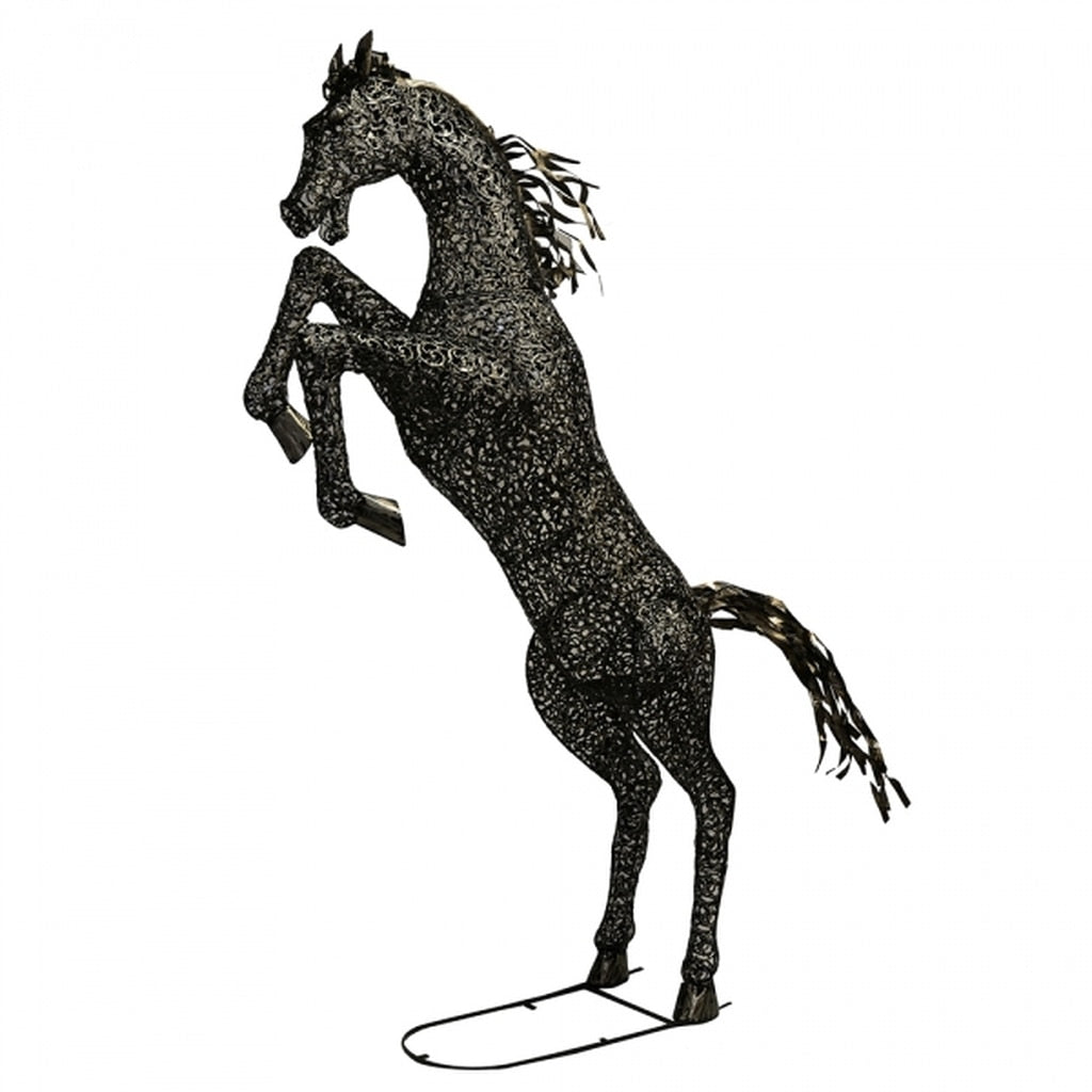 Black Stallion Garden Ornament